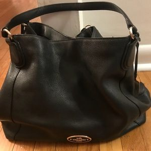 Coach black hobo handbag